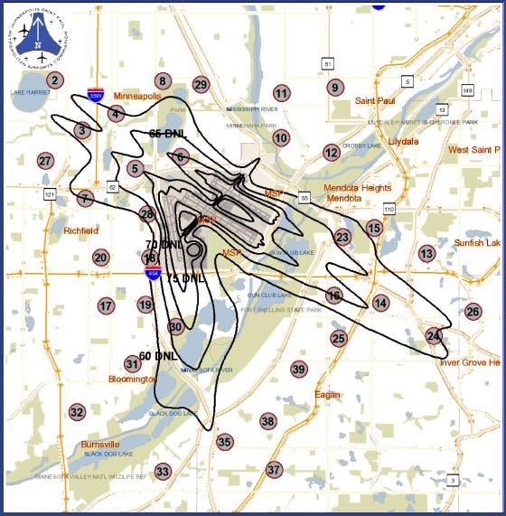 MSP Airport Noise Footprint HomesMSP