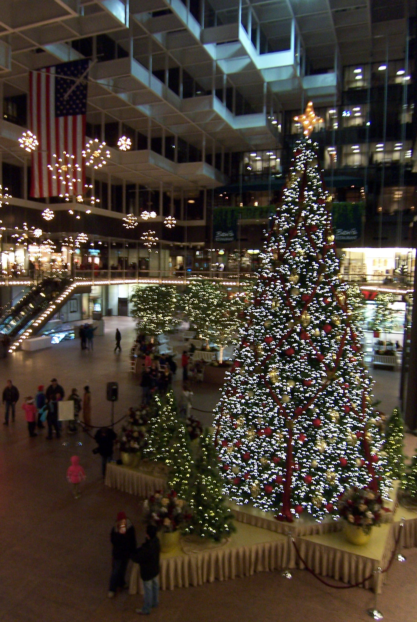 there is nothing quite like the sparkle of holiday lights in the city such as you can see in this view of the ids center crystal court - Christmas Lights Minneapolis
