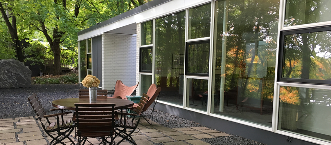 modern house porch