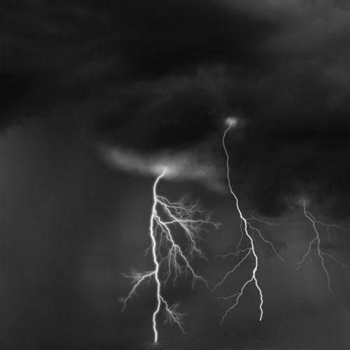 Black and White Lightning