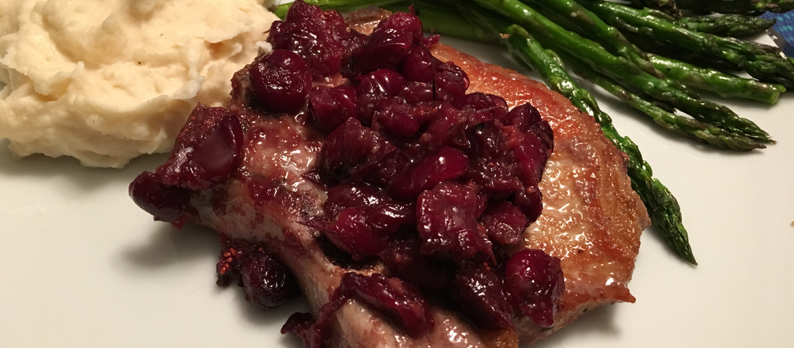 Wednesdays Unplugged - Pork Chops with cranberry-maple pan ...