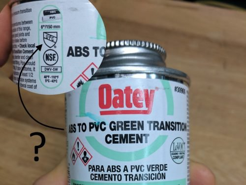 ABS to PVC cement