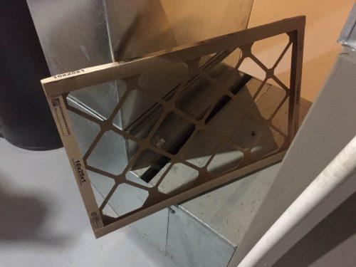 Clogless furnace filter