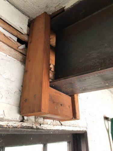 hanging steel beam