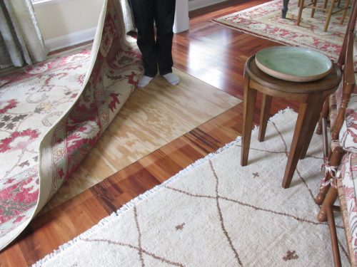 plywood floor covering