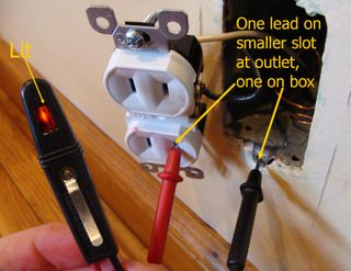 Testing For Ground on a Two-Prong Outlet