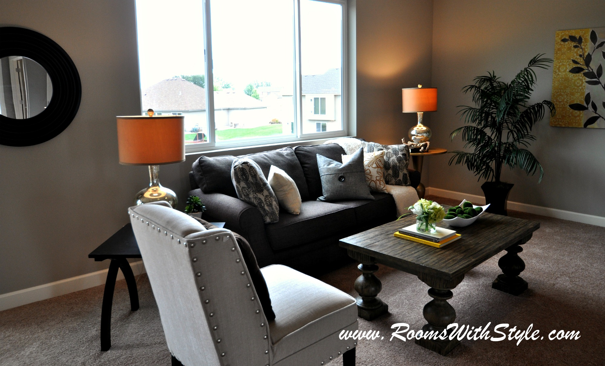 It is parade of homes time homesmsp for Staged living room ideas