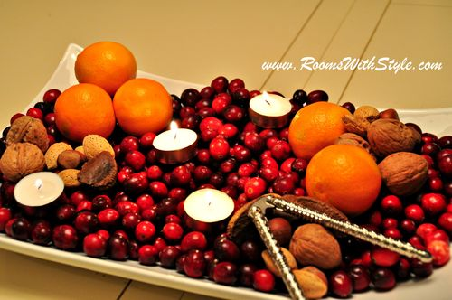 Cranberries Nuts and Oranges