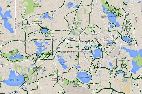 Eden prairie-trails map