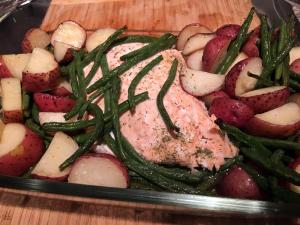 Salmon-one pan