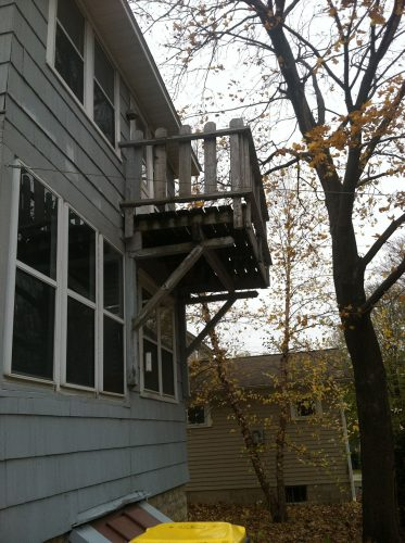 Rickety balcony